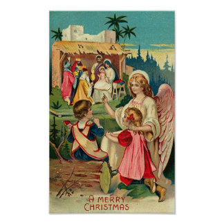 A Merry Christmas Angel Card Print
