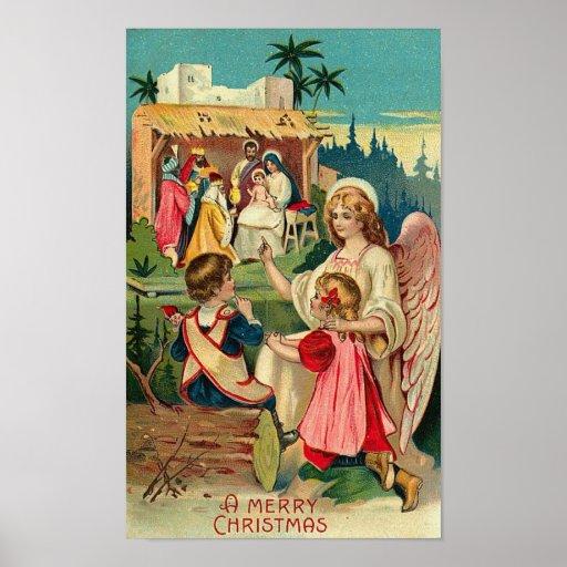A Merry Christmas Angel Card Print