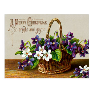 A Merry Christmas Bright and Gay Postcard
