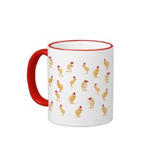 A Merry Christmas Chickens Mug! Ringer Mug