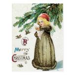 """A Merry Christmas"" Girl Postcards"