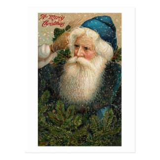 A Merry Christmas Old St. Nick Card Postcard