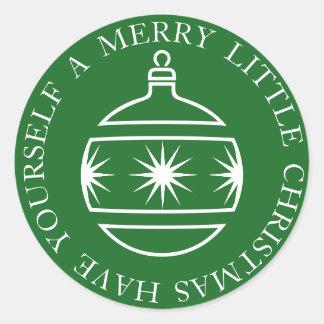 A Merry Christmas Ornament Round Sticker