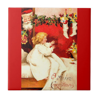 A Merry Christmas Small Square Tile