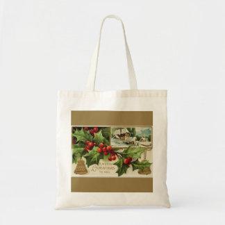 A Merry Christmas to You Vintage Budget Tote Bag