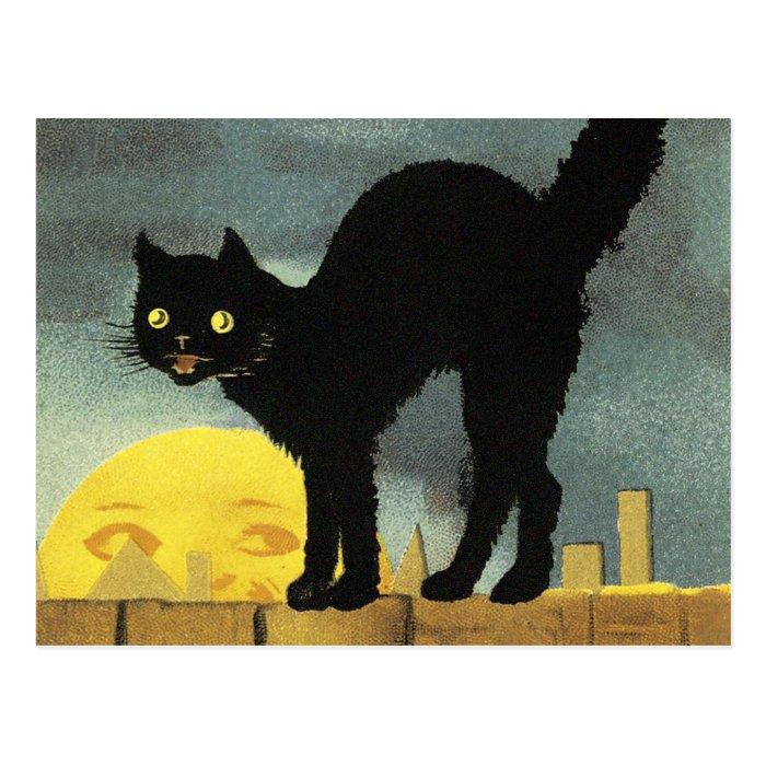 A Merry Halloween Postcard