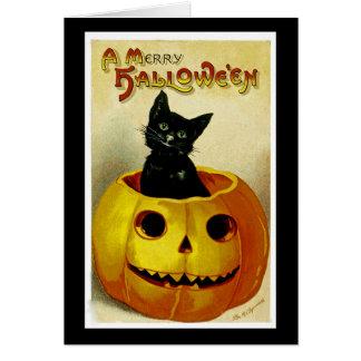 A Merry Haloween Kitten Greeting Card