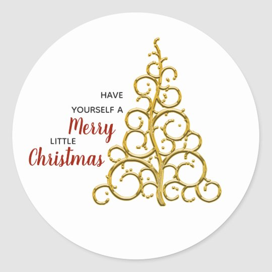 A Merry Little Christmas Classic Round Sticker