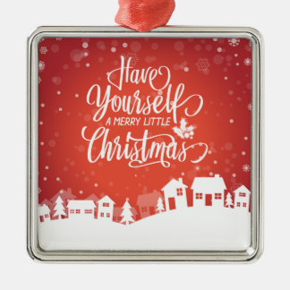 A Merry Little Christmas | Square Ornament