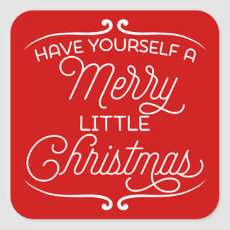 A Merry Little Christmas Square Sticker