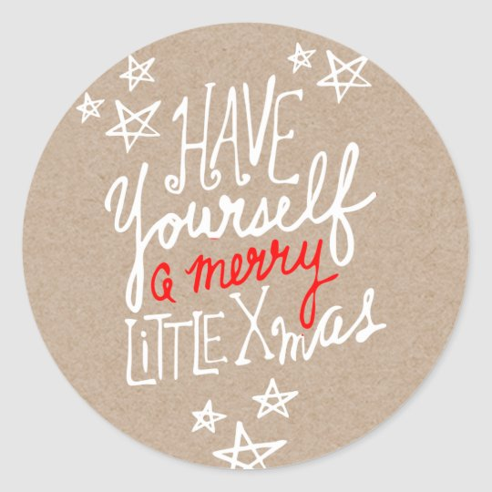 A Merry Little Xmas Hand Lettered Kraft Holiday