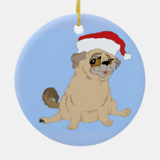 A Merry Pug Christmas Christmas Ornament
