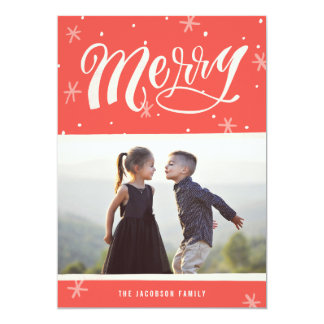 A Merry Wish Calligraphy Christmas Card