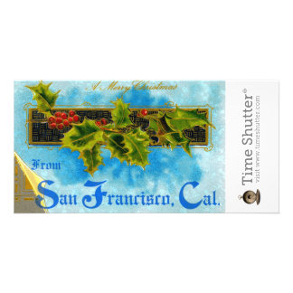 A Merry X mas from San Francisco Photo Card Template