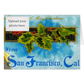 A Merry X'mas from San Francisco Greeting Card