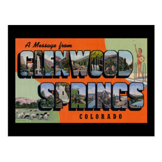 A Message from Glenwood Springs Colorado Postcard
