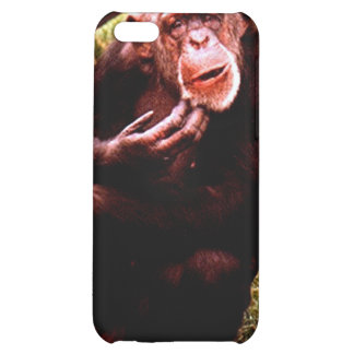 A messed up looking chimp iPhone 5C cover