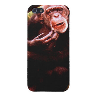 A messed up looking chimp. iPhone 5 cover