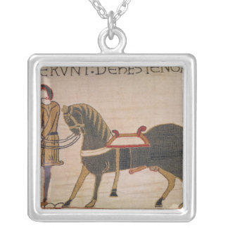 A Messenger Brings News of Harold to William Silver Plated Necklace