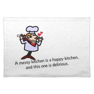 A Messy Kitchen Place Mat