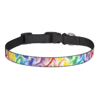 A Messy Rainbow Dog Collar