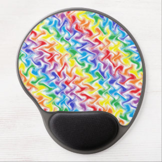A Messy Rainbow Gel Mousepad
