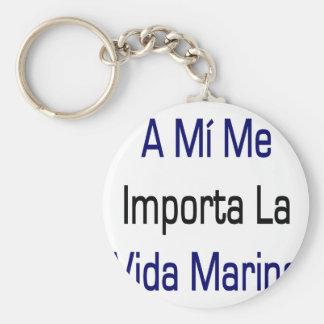 A Mi Me Importa La Vida Marina Basic Round Button Key Ring