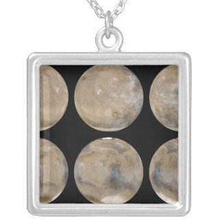 A Mid-Northern Summer/Southern Winter on Mars Silver Plated Necklace