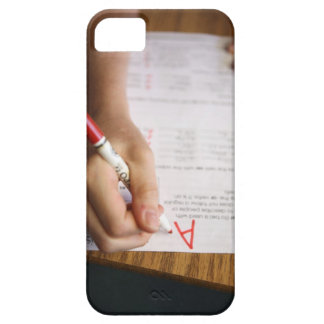 A middle school teacher puts a grade on a barely there iPhone 5 case