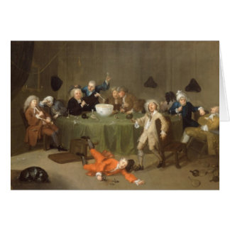 A Midnight Modern Conversation, c.1732 (oil on can Card