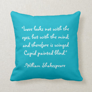 A Midsummer Nights Dream w Shakespeare Quote Throw Pillow