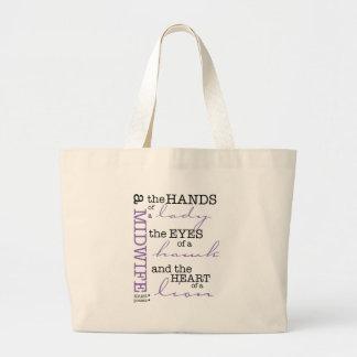 A midwife must possess .... jumbo tote bag