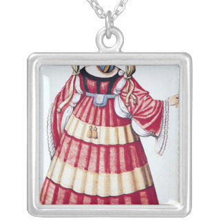 A Milanese Lady Silver Plated Necklace