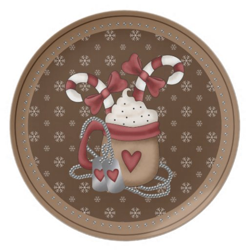 A Military Christmas Party Plates