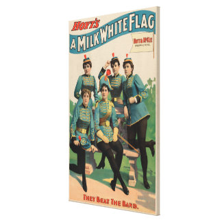"""A Milk White Flag"" Woman's Marching Band Canvas Print"