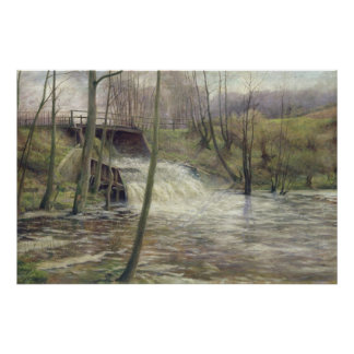A Mill Stream Poster