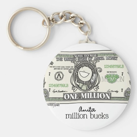 A million for Women Basic Round Button Key Ring