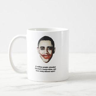 A million people attended Obama's inauguration Basic White Mug