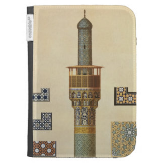 A Minaret and Ceramic Details from the Mosque of t Kindle Folio Cases
