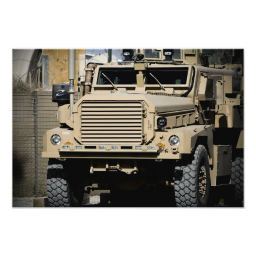 A mine-resistant, ambush-protected vehicle photo art