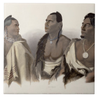 A Missouri Indian, an Oto Indian and the Chief of Large Square Tile