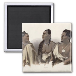 A Missouri Indian, an Oto Indian and the Chief of Magnet