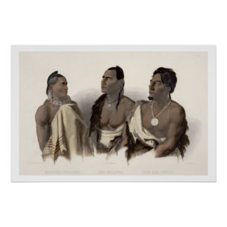 A Missouri Indian, an Oto Indian and the Chief of Poster