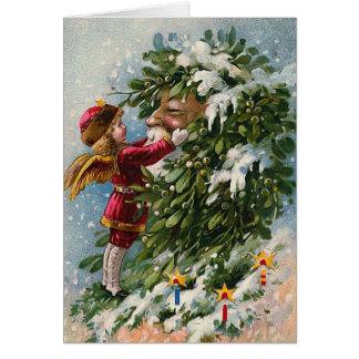 """""""A Mistletoe Kiss for Santa"""" Card"""