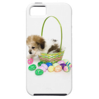A mixed breed puppy sitting in an Easter basket Case For The iPhone 5