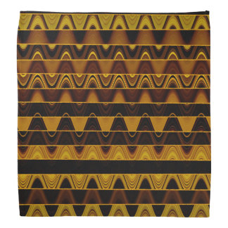 A Modern Abstract Colorful Gold Wave Pattern Bandana