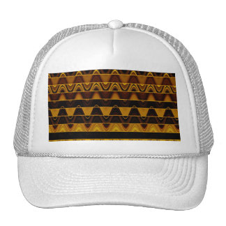 A Modern Abstract Colorful Gold Wave Pattern Hats