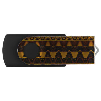 A Modern Abstract Colorful Gold Wave Pattern Swivel USB 2.0 Flash Drive