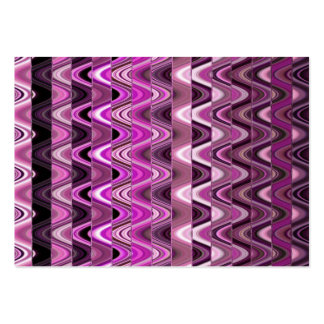 A Modern Abstract Colorful Pink Wave Pattern Business Card Template
