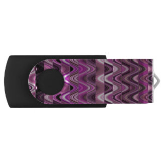 A Modern Abstract Colorful Pink Wave Pattern Swivel USB 2.0 Flash Drive